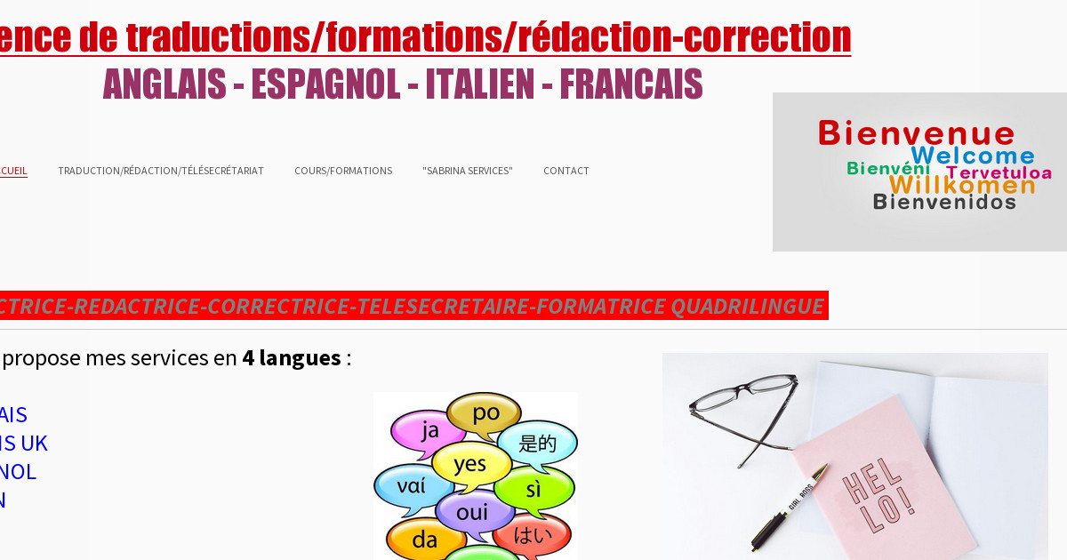 accueil  agence traductions  formations  r u00e9daction